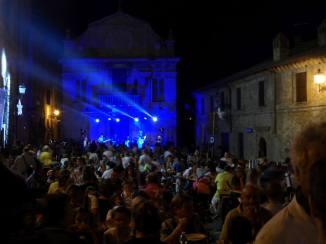 piazza at night